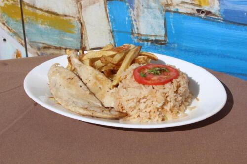 Reineta a la plancha con arroz